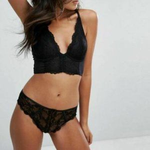 Gossard Superboost Lace Black Plunge Bra